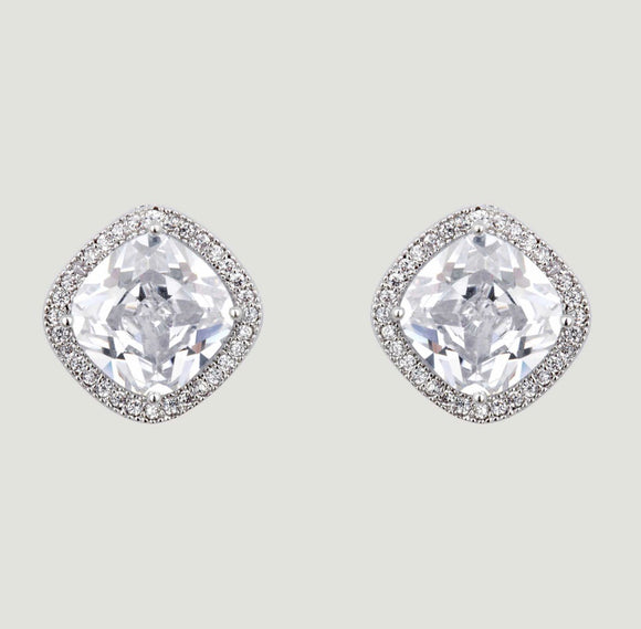 Clear CZ Stud Earrings by Butler & Wilson