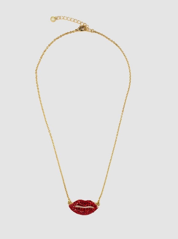 Tiny Lips Pendant by Butler & Wilson