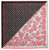 Polka Spot Leaves Mix Scarf in Blossom/multi by Lulu Guinness