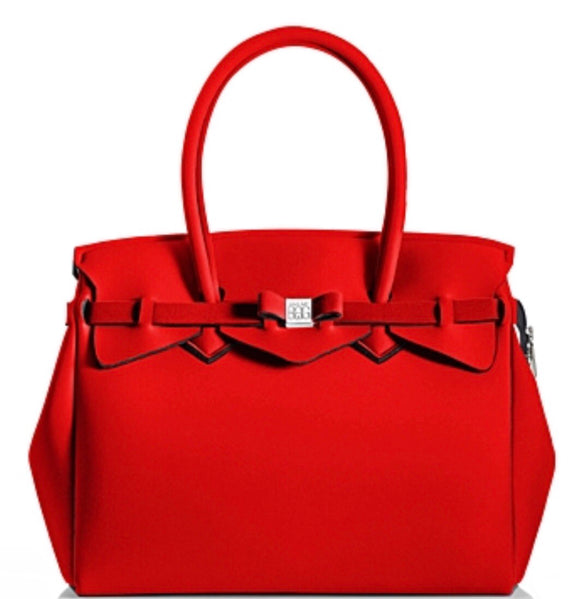 Miss Plus in Red Coat by Save My Bag