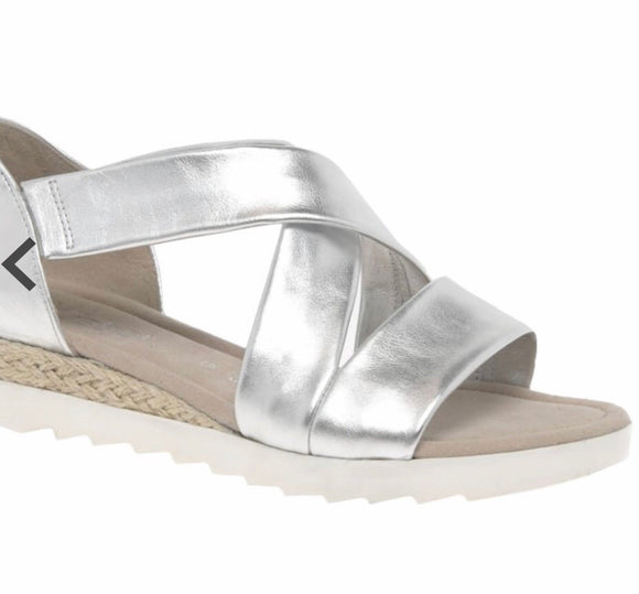 Promise Sandal in Silver by Gabor