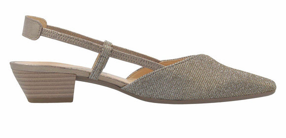 Solace Sling Back in Platino by Gabor