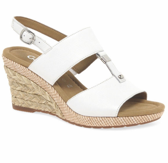 Keira Wedge Sandal in White by Gabor