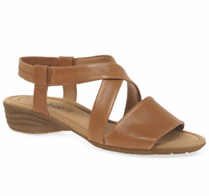Ensign Sandal in Cognac by Gabor