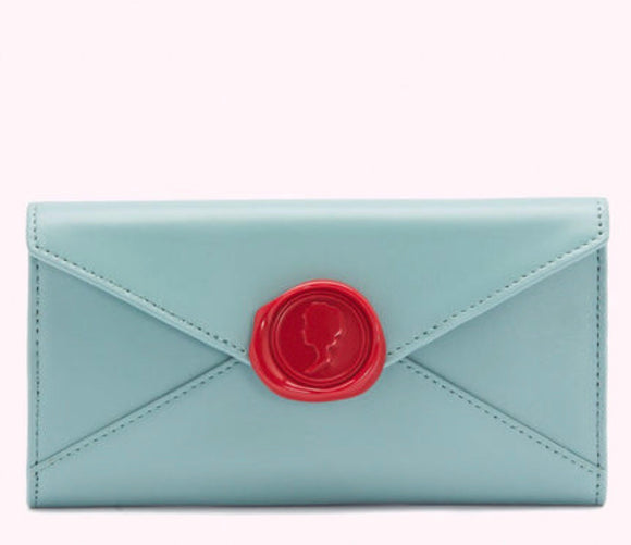 Love Letters Lauren Wallet in Aqua by Lulu Guinness