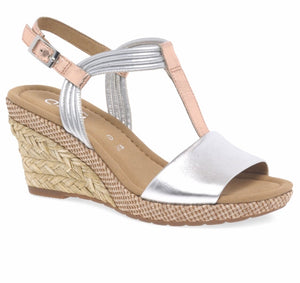 Jess Silver Wedge Sandal by Gabor