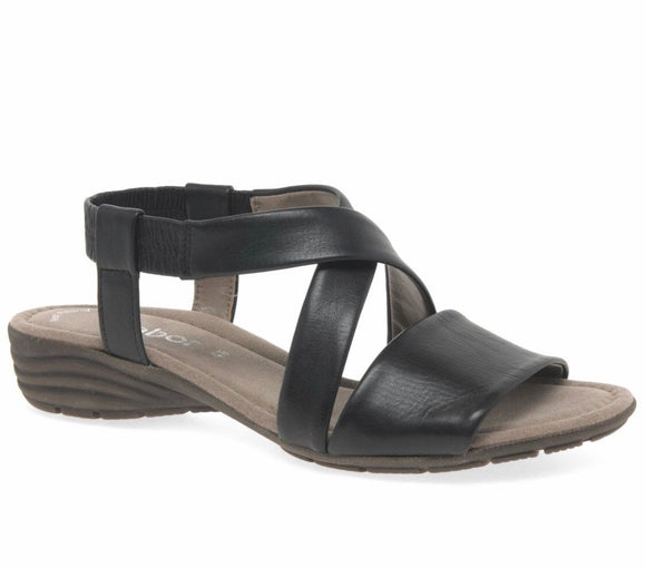 Ensign Sandal in Black by Gabor