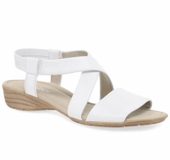 Ensign Sandal in White by Gabor
