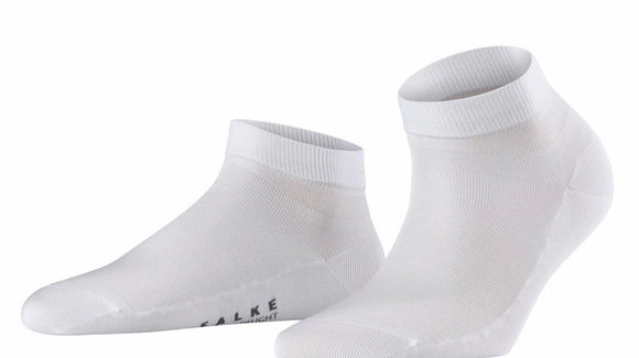 Cotton Delight Sneaker Sock in White by Falke