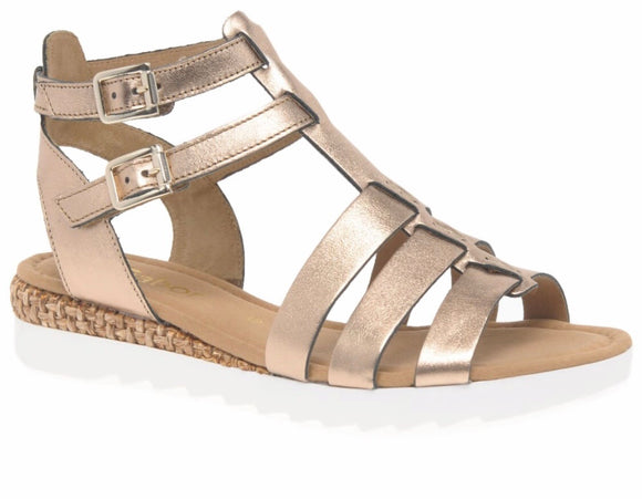 Felicity Gold Metallic Sandal by Gabor