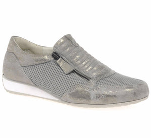 BRUNELLO Sneaker in Metallic Taupe by Gabor