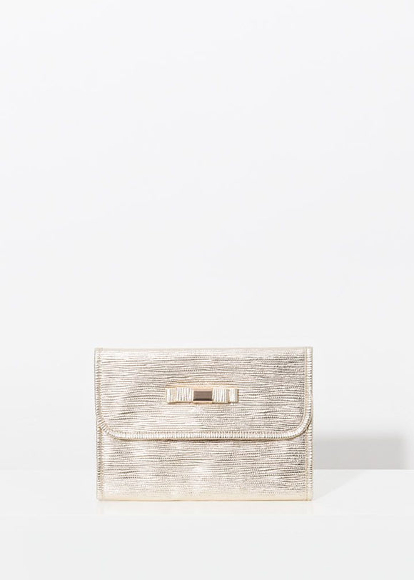 Marisol Cosmetic Bag in Gold by Pia Rossini