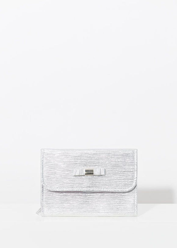 Marisol Cosmetic Bag in Silver