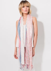 Rochelle Scarf in red/blue by Pia Rossini