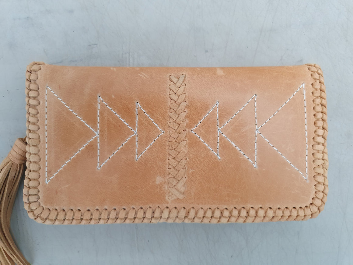 Sample Sale - Wolf Dancer Wallet Tan