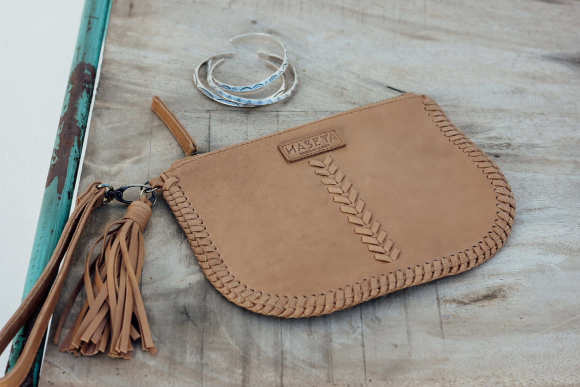 Haseya Coin Purse - Light Tan