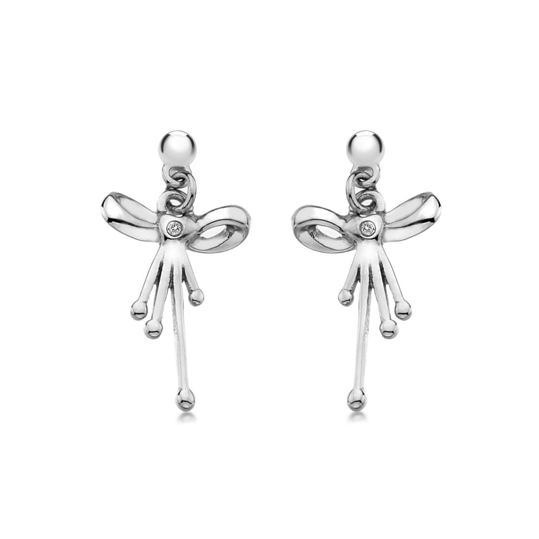 Lily & Lotty Sterling Silver Diamonds Bow Shapeded Earrings - Queen of Silver