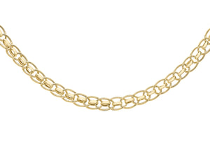 9ct Yellow Gold Roller Ball Link Chains