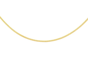 9ct Yellow Gold Square Snake Chain