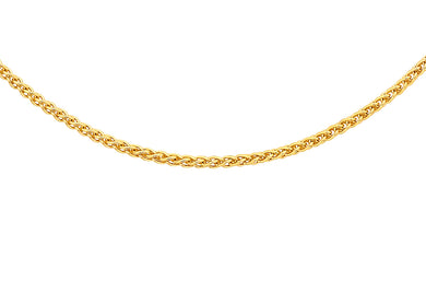 9ct Yellow Gold Spiga Chain