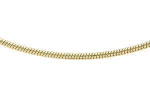 9ct Yellow Gold 50pg Round Snake Chains