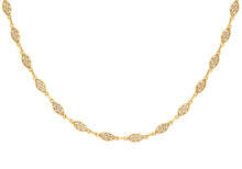 9ct Yellow Gold Filigree Oval Link Chain