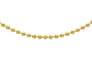 9ct Yellow Gold 2Mm Ball Chain