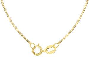 9ct Yellow Gold Mini Round Snake Chain