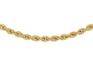 9ct Yellow Gold 50pg Rope Chain