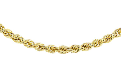 9ct Yellow Gold 60pg Rope Chain