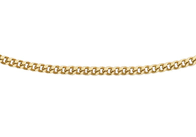 9ct Yellow Gold 20pg Diamond Cut Curb Chain