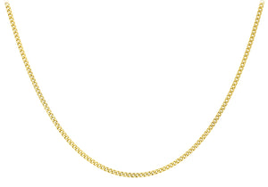 "9ct Yellow Gold 25pg Diamond Cut Adjustable Curb Chain 41Cm/16""-46Cm/18"""