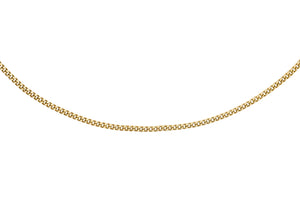 9ct 25pg Gold Diamond Cut Curb Chain 40+2Cm