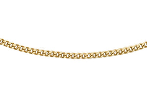 9ct Yellow Gold 30pg Diamond Cut Curb Chain