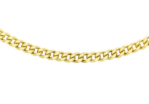 9ct Yellow Gold 90pg Diamond Cut Curb Chain
