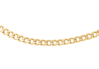 9ct Gold 60pg Hollow Curb Chain 22