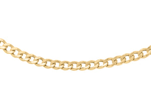 9ct Gold 60pg Hollow Curb Chain 22""