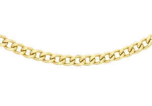 9ct Yellow Gold 80pg Curb Chain