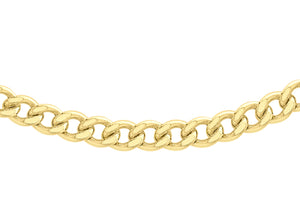 9ct Yellow Gold 100pg Curb Chain