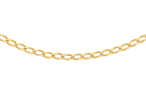 9ct Yellow Gold 30pg Open Curb Chain