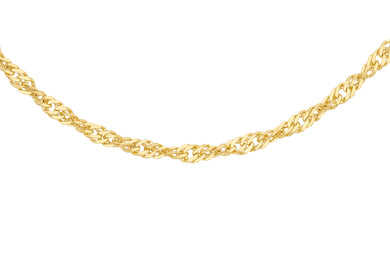 9ct Yellow Gold 20pg Diamond Cut Twist Curb Chain