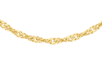 9ct Gold 20pg Twist Curb Chain