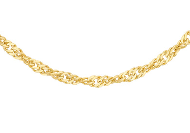 9ct Gold 50pg Twist Curb Chain 24