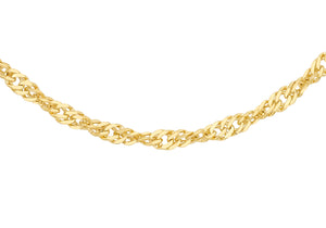 9ct Gold 50pg Twist Curb Chain 24""