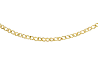 9ct Yellow Gold 50pg Flat Curb Chain