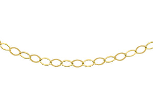 9ct Yellow Gold 30pg Diamond Cut Trace Chain 41Cm/16""