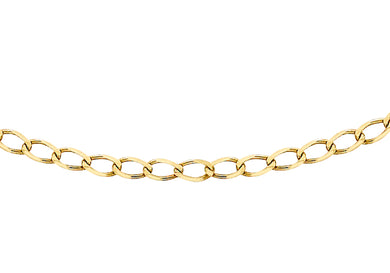 9ct Yellow Gold 50pg Diamond Cut Flat Curb Chain