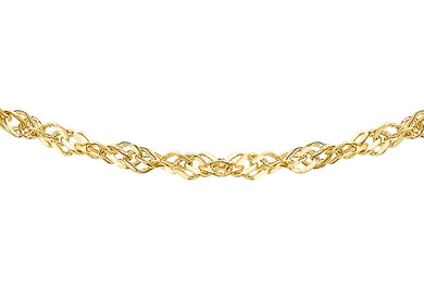 9ct Yellow Gold 35pg Diamond Cut Sing Curb Chain