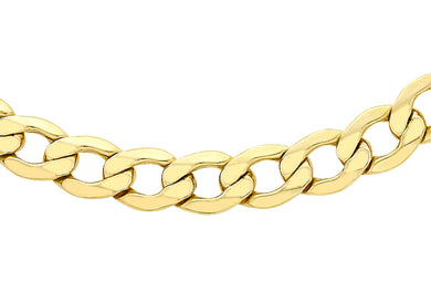 9ct Yellow Gold 150pg Curb Chain