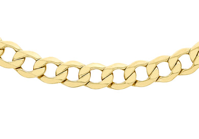 9ct Yellow Gold 120pg Diamond Cut Curb Chain